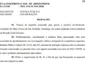 Documento assinado pelo ministro Felix Fischer, do Superior Tribunal de Justiça (STJ) - Foto: Reprodução