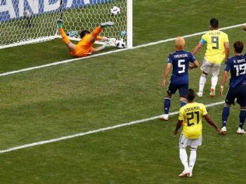 Quintero marcou o gol da Colômbia, mas não evitou a derrota diante do Japão - Damir Sagolj/Reuters/Direitos Reservados