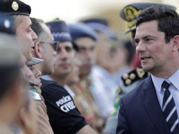Sergio Mouro, ministro de Justiça, na semana passada em Brasília. ERALDO PERES AP