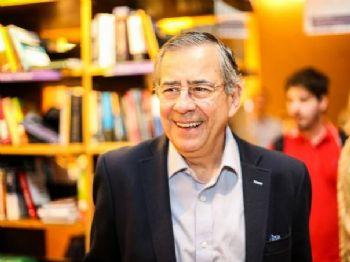 O jornalista Paulo Henrique Amorim, em 2014 (Bruno Poletti/Folhapress)