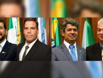 Os deputados Pedro Kemp, Capitão Contar, Rinaldo Modesto e Cabo Almi votaram contra o projeto (Foto: Divulgação ALMS)
