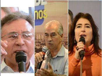 Odilon, Azambuja e Simone são pré-candidatos ao Governo - Foto: Correio do Estado