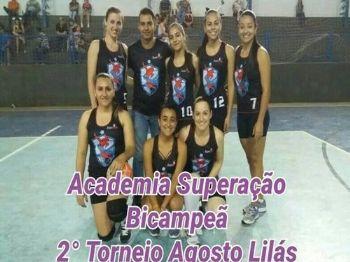 Academia Superação Bicampeã do 2º Torneio Agosto Lilás. Foto: Departamento de Esporte