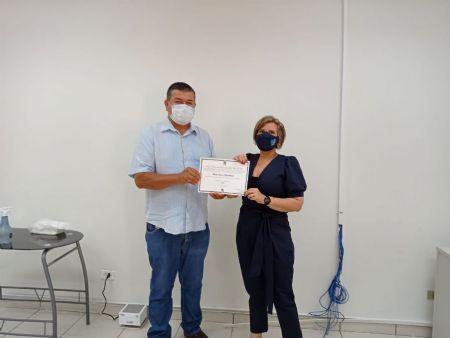 Maninho Vega, recebeu seu diploma de  suplente de vereador pelo MDB. Foto: Laucidio Vega