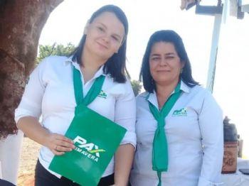 Geovanna Salvetti e Ruti estavam atendendo associados e não associados a tarde toda. Foto: Divulgação
