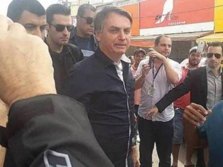 Presidente no comércio de Brasília (Reprodução/Rede Sociais)