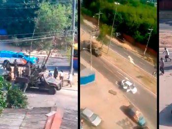 Militares do Exército dispararam 80 tiros contra carro. Músico e segurança, Evaldo (detalhe) morreu na hora. (Reprodução)
