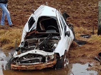 Acidente com morte na rodovia entre Coronel Sapucaia e Amambai, em agosto do ano passado (Foto: Arquivo)