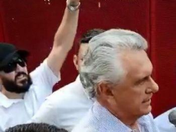 Governador de Goiás diz que manifestação é 'um risco para população' contrair coronavírus Foto: Reprodução