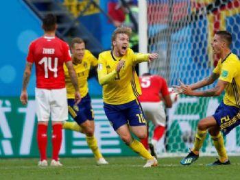 Copa 2018, Suíça e Suécia, GolLustig REUTERS/Lee - Lee Smith/Reuters/Direitos reservados