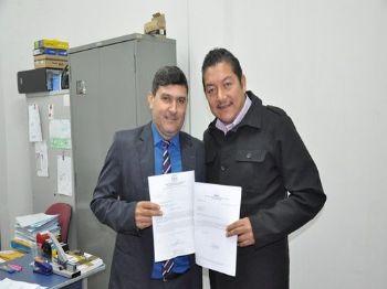 Vereador Asturio Matoso e Presidente da Apae Laucidio Vega.