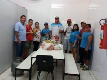 Presidente da Apae, Laucidio Vega, professores, Alunos e o Presidente da Copalc, maninho Vega.
