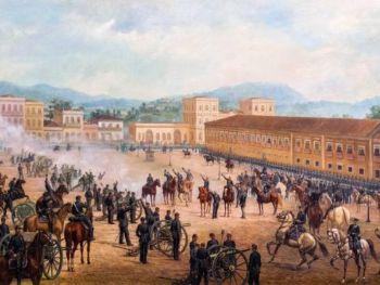 Proclamação da República, pintura de Benedito Calixto, 1893.