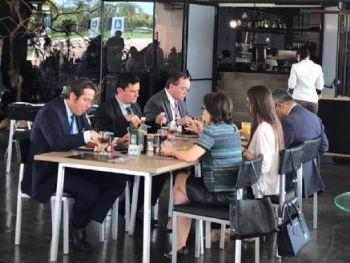 Moro almoçou após reunião no gabinete de transição, em Brasília — Foto: Guilherme Mazui/G1