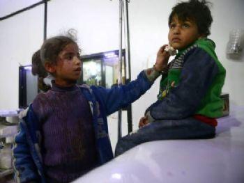 Síria: a situação continua provocando uma enorme preocupação da perspectiva das crianças (Bassam Khabieh/Reuters)