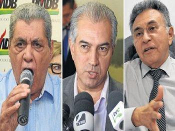 André, Azambuja e Odilon são os principais rivais na próxima disputa ao governo - Foto: Arquivo / Correio do Estado
