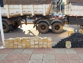 Drogas apreendidas em ação policial. Foto: Divulgação