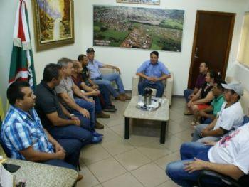André Nezzi durante reunião em Caarapó