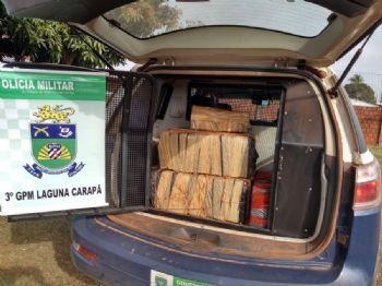 Drogas foi encontrado em estrada de Laguna CarapãFoto: Divulgação