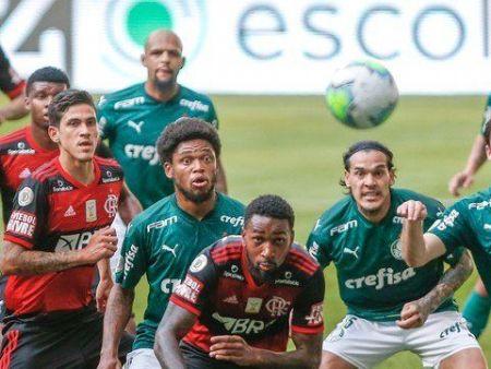 Palmeiras x Flamengo no Allianz Parque. (Foto: reprodução/Marcello Zambrana/Estadão Conteúdo)