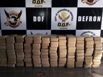 Aos policiais, o condutor contou que pegou a droga em Ponta Porã e levaria até Campo Grande. - Foto: Divulgação/DOF