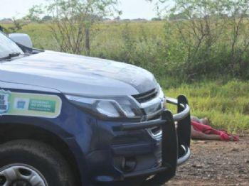 A cabeça da vítima estava distante a cerca de um metro de onde o corpo foi encontrado - Foto: Valdenir Rezende / Correio do Estado