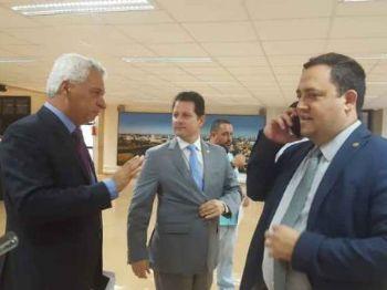 Almi, Câmara e Fernandes anunciaram bloco nesta quarta (Foto: Maisse Cunha)