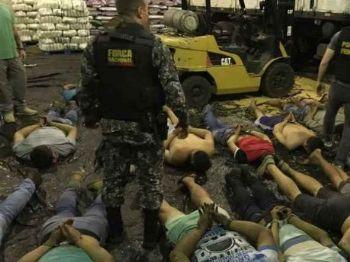 Polícia Federal ao desmantelar esquema de tráfico. (Foto; Divulgação/PF)