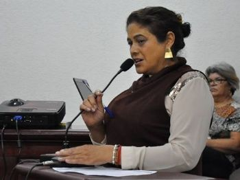 Vereadora Zenaide Espindola (MDB). Foto: Assessoria