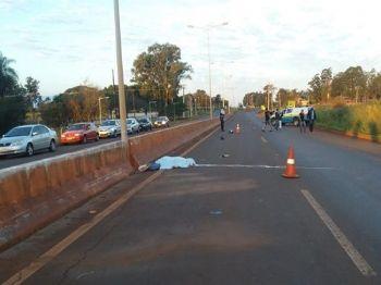 Acidente foi na Avenida Guaicurus, em Dourados - Foto: Osvaldo Duarte/ Dourados News