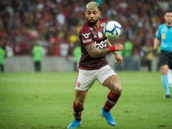 Gabigol levou o cartão amarelo no fim da partida (Foto: Alexandre Vidal / Flamengo) Foto: Lance!