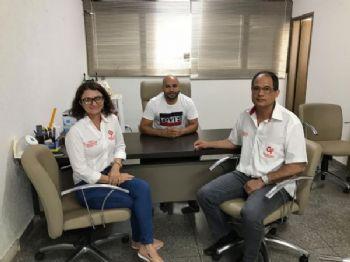 Alex Cordeiro, reuniu-se com diretores de uma das maiores empresas no ramo em Dourados, apresentando o mercado e potencialidades de crescimento em Laguna Carapã. Foto: Assessoria