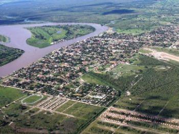 Vista da cidade de Porto Murtinho
