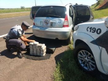 Carregamento de cocaína apreendido pela PM em SP. - Foto: Divulgação