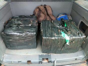 Foram apreendidos 110 quilos de maconha