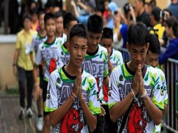 Os 12 meninos resgatados em uma caverna da Tailândia. SOE ZEYA TUN REUTERS