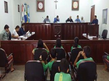 Os vereadores de Laguna Carapã na sessão desta terça-feira (24). Foto: Assessoria