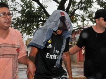 Suspeito chegou acompanhado de advogado - Foto: Valdenir Rezende / Correio do Estado