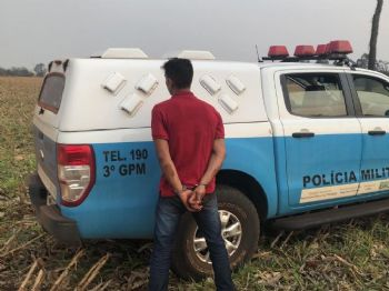 Polícia Militar prendeu um  dos autores do roubo seguido de sequestro. Foto: Divulgação