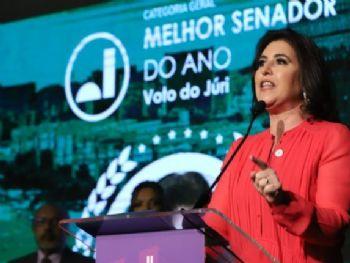 Simone Tebet foi eleita melhor senadora do ano pelos jurados. (Congresso em Foco)