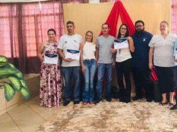 Posse dos novos membros do Conselho Tutelar de Laguna Carapã, Foto: FB/Vera Bilibio