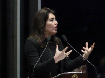 Simone Tebet aceitou a missão de substituir Puccinelli como candidata ao governo. (Foto: Agência Senado)