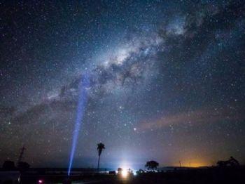 Céu estrelado em Aquidauana, cidade vizinha a Campo Grande (Foto: André Bittar)