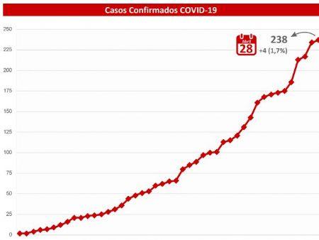 Gráfico de pacientes infectados foi disponilizado pela SES