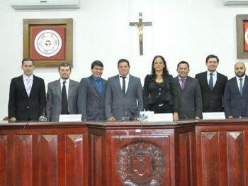 Os Vereadores de Laguna Carapã. Foto: Assessoria