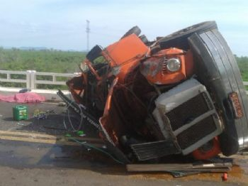 Motorista de 55 anos morreu em acidente na BR-262. - Foto: Divulgação