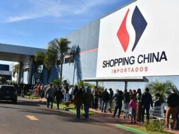 Shopping China suspendeu as atividades na fronteira por tempo indeterminado