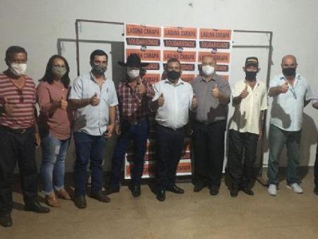 Convenção do Solidariedade em Laguna Carapã.