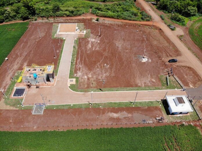 Estação de Tratamento de Esgoto em Laguna Carapã inaugurada em 2020.